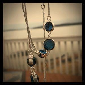 Nine West Long Blue Necklace